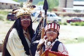 Apache tribal members celebrate at the Ndee La'ade (Gathering of the People) Fort Apache Heritage Reunion.
