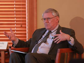 David Schmidly, president of the University of New Mexico, says sustainable practices have lowered energy costs at his institution.