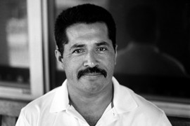 Juan Rosa was born in San Sebastian, San Vicente, in El Salvador but fled to California to escape El Salvador's civil war. After struggling with joblessness, he got his GED at age 45 and works at El Buen Samaritano Episcopal Mission, a ministry helping Latinos with healthcare, education and economic stability.