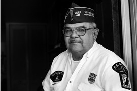 Plácido Salazar was born in Edcouch, Texas, and joined the Air Force after high school, serving in the Vietnam War. He retired from Randolph Air Force Base after 20 years and now advocates for civil rights for veterans, highlighting issues such as Agent Orange and the Texas Voter ID Bill.
