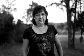 Maria Spencer was born in Chihuahua, Mexico, and immigrated to America at age 15. She became a U.S. citizen in 2006 and immediately registered to vote. Spencer is thankful to be living here despite losing her home in the 2011 Bastrop wildfires, the biggest in Texas history.