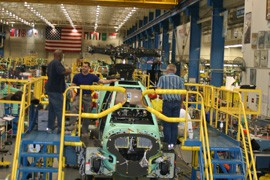 Boeing's plant in Mesa builds and refits Apache AH-64D attack helicopters.