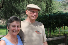 California residents David and Judy Berndt visit different wineries every two to three months. The couple traveled more than 400 miles to experience Arizona wines.