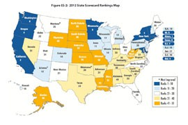 A recent report ranked Arizona 12th in the nation for energy efficiency, largely because the state implemented standards that have some of the country's most aggressive energy savings targets.