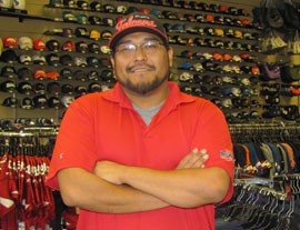 Mario Sneezy, manager of Just Sports, a sports merchandise store also located in the Westgate City Center, said he's optimistic that sales to fans of the Arizona Cardinals, the NFL team playing nearby, will help make up for the cancellation of Phoenix Coyotes games in an adjacent arena.