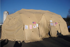 Voters in Tucker County, W.Va., cast ballots Tuesday in Deployable Rapid Assembly Shelter tents that were set up by the National Guard after snowstorms following Hurricane Sandy left several regular polling locations without power. The DRASH tents have their own heat and power.