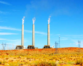 The share of energy produced by coal-burning power plants, like the Navajo Generating Station, shown here, would be reduced in favor of natural gas generation and renewable sources over the next 15 years under an EPA plan to reduce carbon emissions.