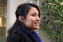 Amanda Blackhorse, a Navajo woman from Arizona who is leading a fight to deny the Washington Redskins a trademark in the team name, said she does not agree with a Navajo high school's use of the name for its teams.