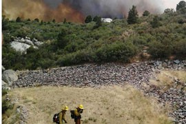 The Yarnell fire, which killed 19 Prescott-area hotshot firefighters, was sparked by lightning Friday about 30 miles southwest of Prescott and had burned more than 8,300 acres by Monday afternoon.