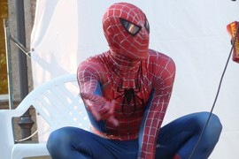 A costumed Spider-Man character in web-shooting pose. A Tucson inventor who devised a web-shooting toy is no longer entitled to royalties for it, a federal court has ruled.