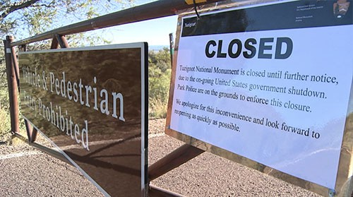 Park officials were ready for the national park shutdown, but some tourists weren't. Cronkite News reporter <b> Aja Hood </b> has the story.