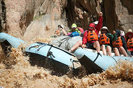 Rafting companies that do business in the Grand Canyon National Park have lost sizable parts of their business during the government shutdown of the park, during what is normally the time of year they start to turn a profit.
