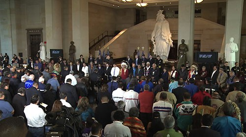 Today on Cronkite NewsWatch, Native American Code Talkers are receiving the nation's highest civilian honor. Our Washington D.C. Bureau has more details on the