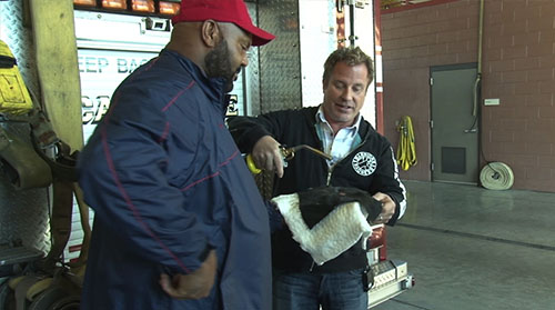 A new fire shelter is in its testing stages, and it can withstand up to 2,500 degrees. Cronkite News reporter <b>Dominique Johnson</b> has the story.