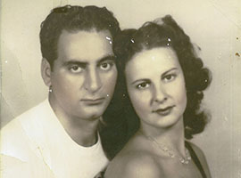 Debbie Burak's parents, Frank and Lillie Cicirelli, whose difficulties getting VA pension assistance spurred Burak's efforts to help other vets. Burak said her father, who died in 2003, served on a submarine in World War II. Her mother died in 2005, before she could get pension assistance.