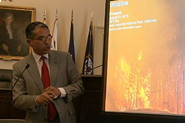 Patrick Gonzalez, a climate change scientist with the National Park Service, said a likely increase in future wildfires is among the many changes in the Southwest that could be brought on by climate change.
