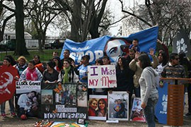 The Dream Act Coalition rallied outside the White House with renewed calls on President Barack Obama to halt deportations, as deportations under his administration surpassed the 2 million mark.
