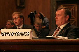 Kevin O'Connor of the International Association of Fire Fighters asked a Senate subcommittee for enhanced firefighter training and a larger fire suppression budget.
