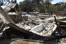 The Yarnell Hill fire burned 8,400 acres and destroyed more than 100 homes. When residents returned from evacuation, many of them found their homes reduced to rubble.