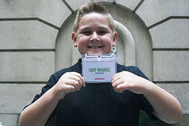 Cody Vasquez, a Gilbert 12-year-old who was at the White House for the