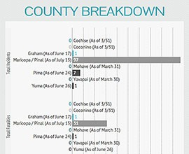 Numbers from the Children's Safety Zone show Maricopa and Pinal counties reporting more water-related incidents than other Arizona counties. The number also show Pima County with seven incidents and one death so far this year.