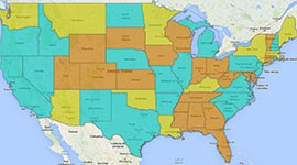 Arizona is one of 11 states, in yellow, whose driver's licenses do not comply with federal