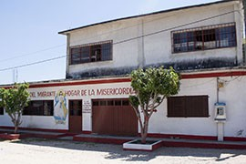 Most migrants learn about the Casa Del Migrante, or House of Mercy, by word of mouth. The shelter provides food and rest to those who come here looking to stow away on a northbound freigh train to the U.S. border.