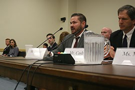 Arizona Department of Environmental Quality Director Henry Darwin testifies to the House Energy and Commerce Committee, which was looking for ways that state and federal agencies can improve productivity while still protecting the environment.
