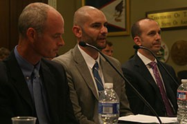 Eric Fitzer, center, of the Governor's Office of Energy Policy, told a House committee that a bill that would open public land to renewable energy development could make Arizona the
