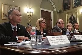 Arizona State Land Commissioner Vanessa Hickman, second from left, told a House panel that a bill to streamline the land-exchange process would unlock surface and subsurface land to revenue-generating uses, such as commercial, wind and solar development.
