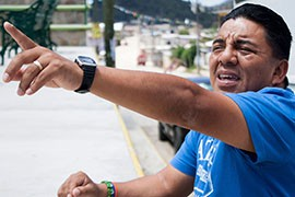 Juan de la Cruz grew up playing basketball and has worked for 17 years as the Mexican government representative charged with encouraging athletic activity in Chiapas, particularly basketball. De la Cruz and the game serve as a bridge between the government and indigenous people.