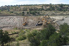 Crews clean the contaminated North East Church Rock mine on the Navajo Nation in 2009. The cleanup was part of the EPA's five-year plan meant to address the most significant issues surrounding abandoned uranium mines on Navajo lands.