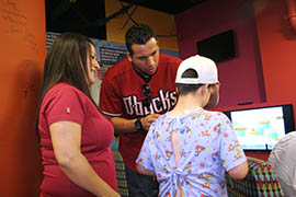 Rookie outfielder David Peralta, visiting Phoenix Children's Hospital on Tuesday, has been a bright spot in an otherwise forgettable season for the Arizona Diamondbacks.