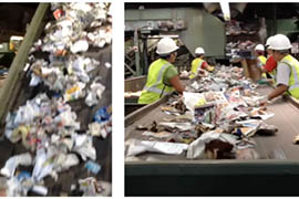 Experience sights and sounds from the garbage transfer station via PicPlayPost.