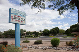 Hermosa Vista Elementary School, where as of October 2013 27 percent of kids qualified for free or reduced-price lunch, is located in an upscale area of Mesa.
