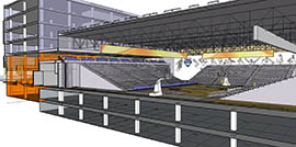 A planned training space with several courts can be converted into a 4,500-seat arena.