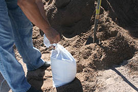 Home Depot provided sand and bags for residents at Phoenix Fire Station 57.