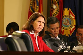 Rep. Ann Kirkpatrick, D-Flagstaff, asked several questions of Department of Veterans Affairs auditors during the hearing on deaths at VA health facilities in Phoenix.