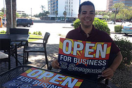 Joshua Zaragoza, senior field organizer for the Human Rights Campaign in Arizona, said that by passing Proposition 475 Tempe voters sent a message that their city is