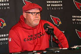 Arizona Cardinals coach Bruce Arians said rookie receiver John Brown has learned his system quickly.