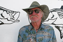 Rusty Braun said business is down at Rusty's Riviera Marina in Bullhead City because fewer anglers are loading up on bait and tackle since a hatchery stopped stocking Lake Mohave with rainbow trout.
