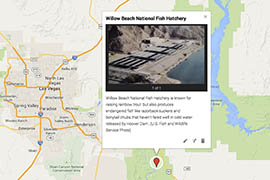 Click on the image to see places key to the loss of stocked trout at Lake Mohave.