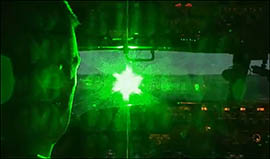 When someone targets an aircraft with a laser, the light expands in the air and pilots experience a wide light beam that fills the window of the cockpit.