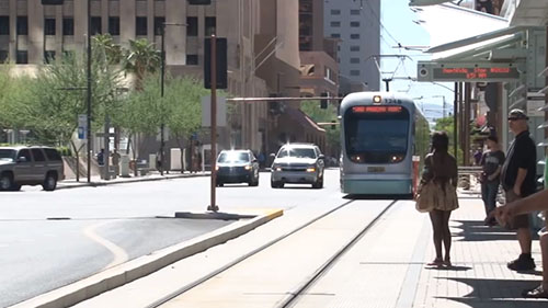 The US Department of Transportation awarded the City of Phoenix a federal grant to help pay for light rail improvements and expansion. The new section will connect with the South Central Phoenix Corridor. Reporter <b>Katrina Arroyos</b> has more.
