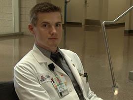 Garrett Frantzis, a third-year medical student at University of Arizona College of Medicine – Phoenix, said simulations help prepare him for real medical situations.