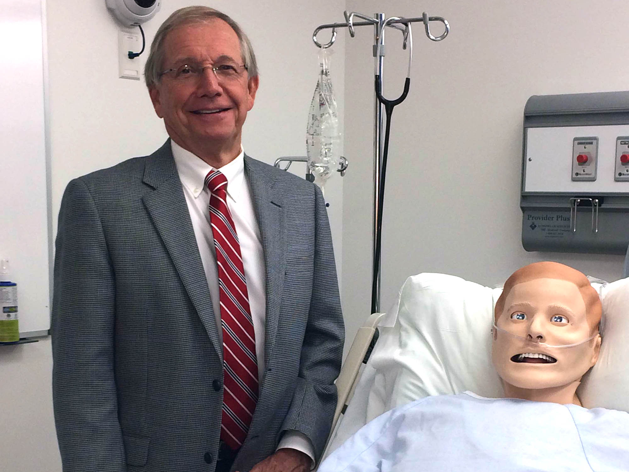 """Dr. Marshall Smith, system director for the Center for Simulation and Innovation, said simulations models are so real to students that if they """"die"""" at their hands they get emotional."""