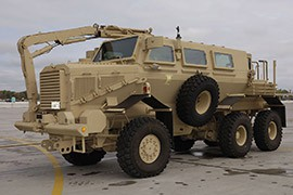Arizona law enforcement agencies have received 29 armored personnel carriers from program 1033, including mine-resistant vehicles similar to this one.