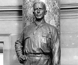 This bronze statue of mining, steel and railroad magnate John Greenway stands in the U.S. Capitol's National Statuary Hall, which honors individuals chosen by states.