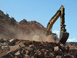 Construction workers are moving 1 million cubic yards of material to rebuild the section.