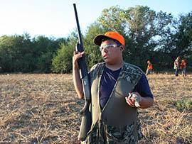 Eleven-year-old Hunter Lopez takes part in a dove hunt near Buckeye.